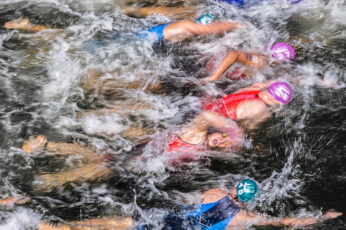 Triathlon, Schwimmdisziplin, Schwimmen