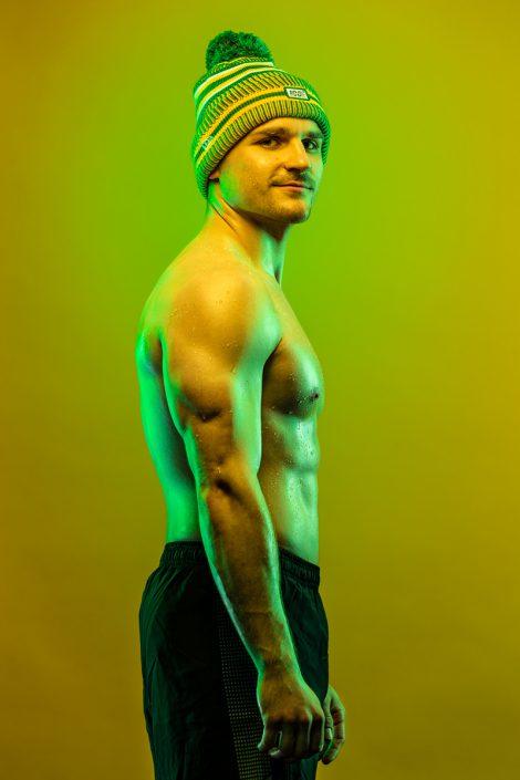 Portrait, Farben, Colored Gel, Athletik, Werbephotographie
