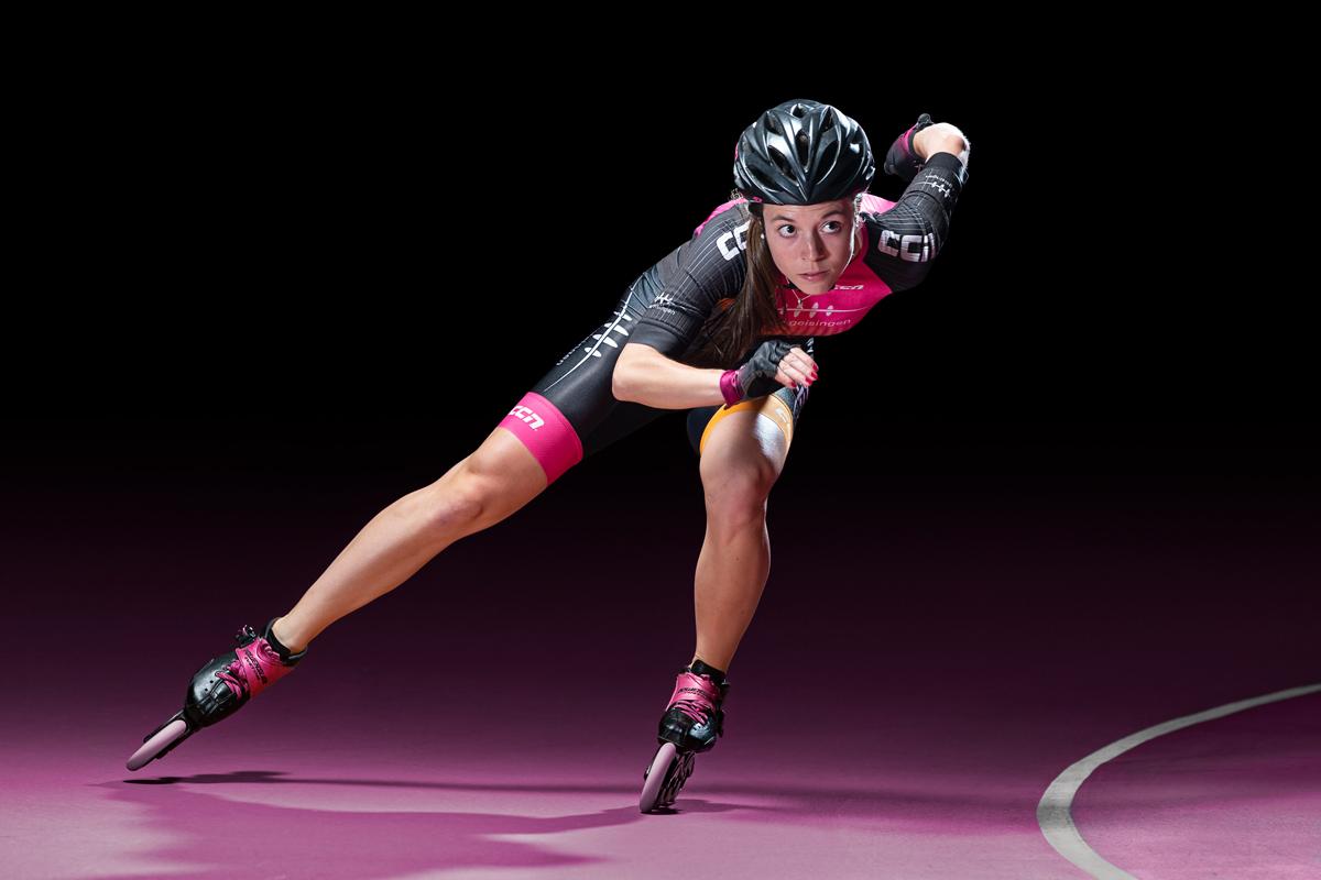 Speedskating, Werbephotographie, Startseite, Larissa Gaiser
