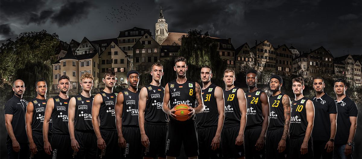 Tigers Tübingen, Tübingen, Tuebingen, Basketball, Basketball Bundesliga, Team, Mannschaft, Mannschaftsbild, Leistungen