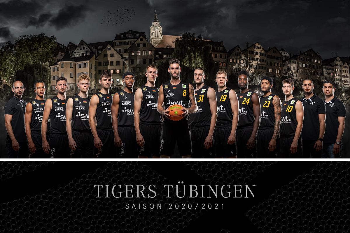 Tigers Tübingen, Tübingen, Tuebingen, Basketball, Basketball Bundesliga, Team, Mannschaft, Mannschaftsbild