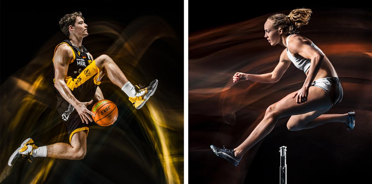 Startseite, Home, Inszenierte Sportphotographie, Werbefotografie, Sportfotografie, Gianni Otto, Jackie Baumann